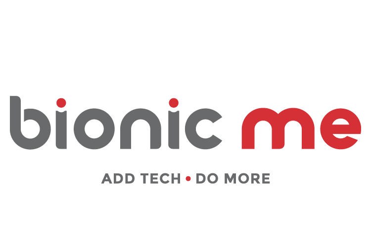 Bionic Me and the tag line add tech, do more. Text.