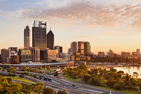 A view of Perth City.