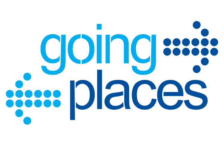 Going Places Logo. Text.