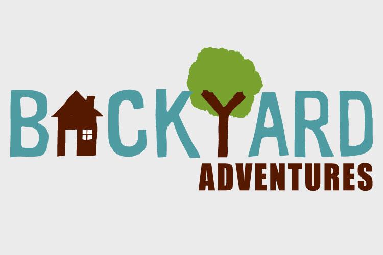 Backyard Adventures Logo. Text.