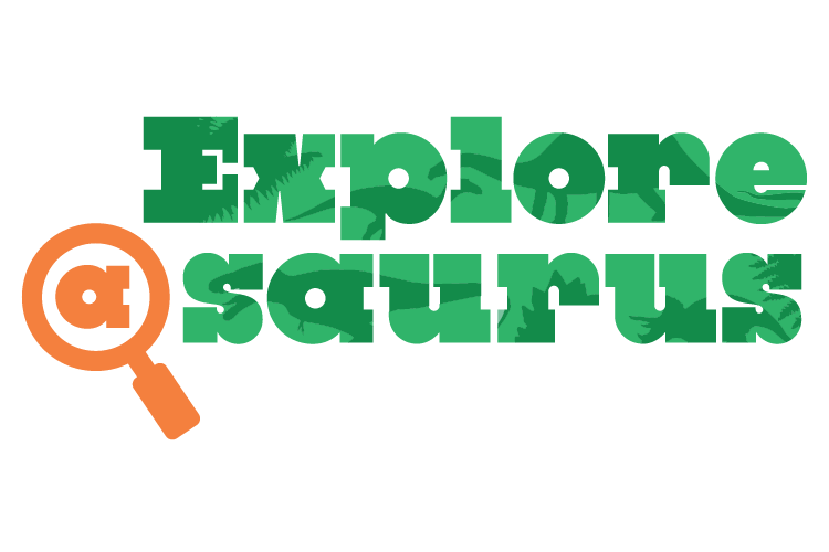 Explore-a-Saurus Logo. Text.