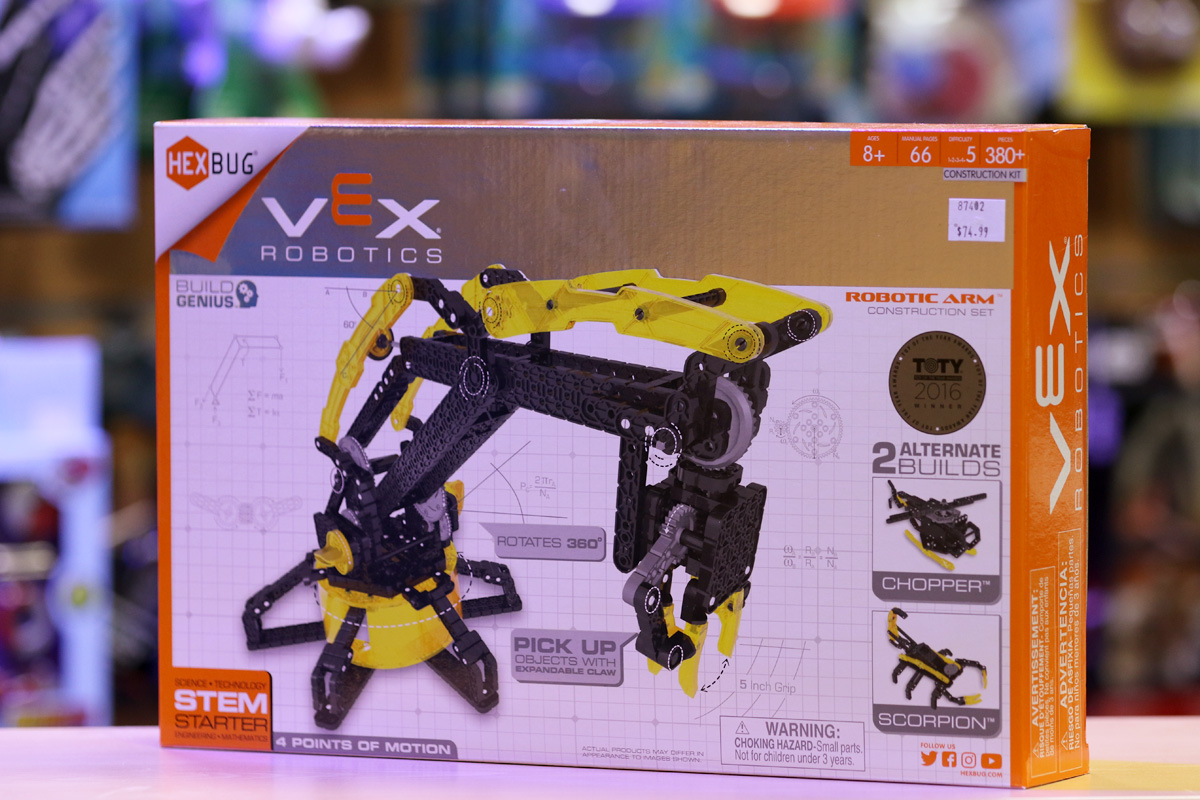A Vex robotic toy kit from chopper and scorpion The Scitech Discovery Shop