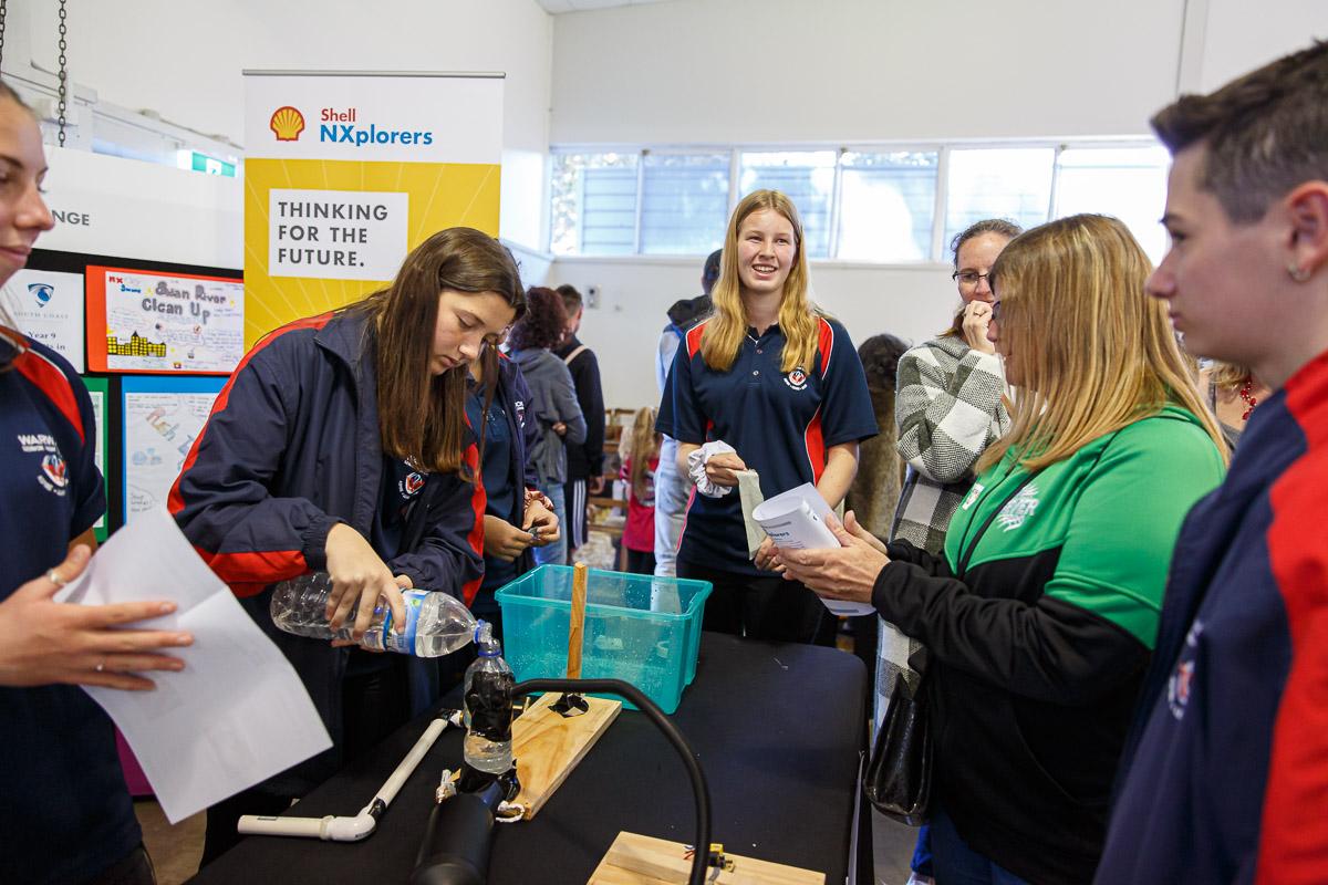 Students at STEM Festival Geraldton