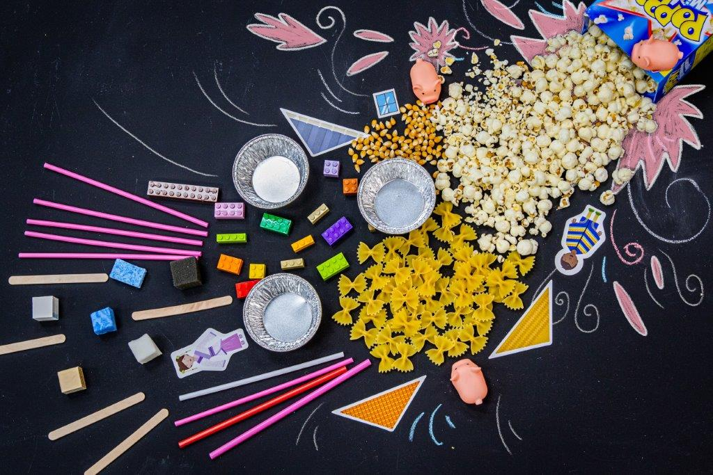 Contents of a DIY kit for chemical sciences.