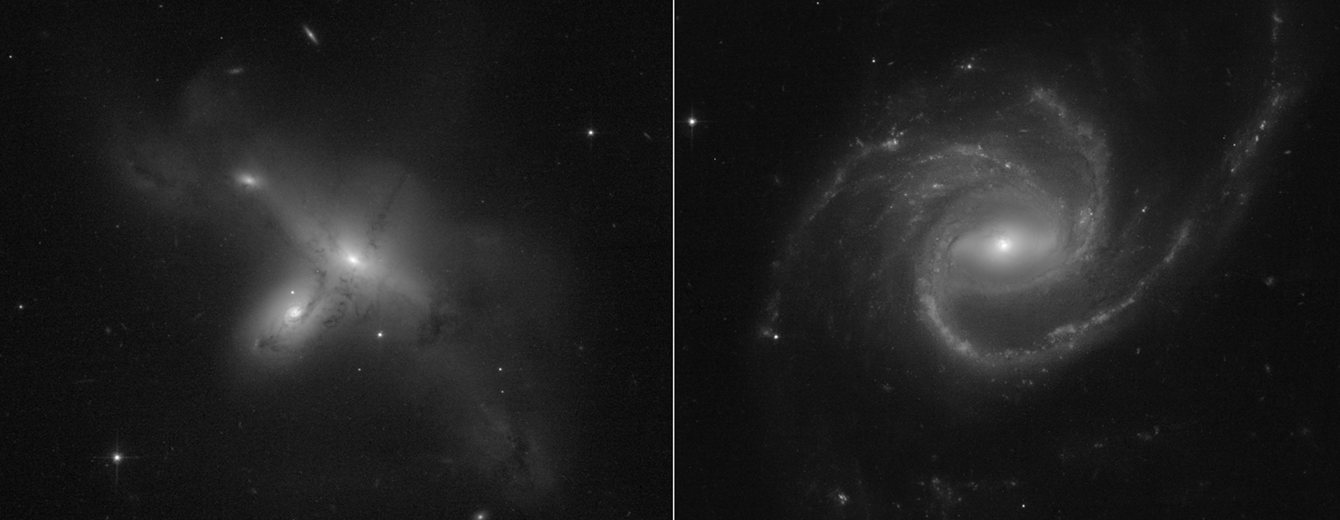 The first images sen back from the Hubble Space Telescope after switching to backup hardware in July 2021