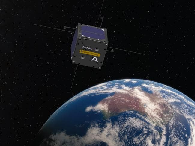 Render of Binar-1 over Earth