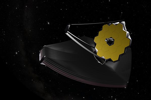 Model of the James ebb Space Telescope