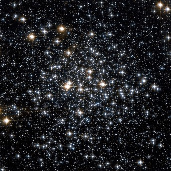 A much brighter and more defined image of the M71 globular cluster