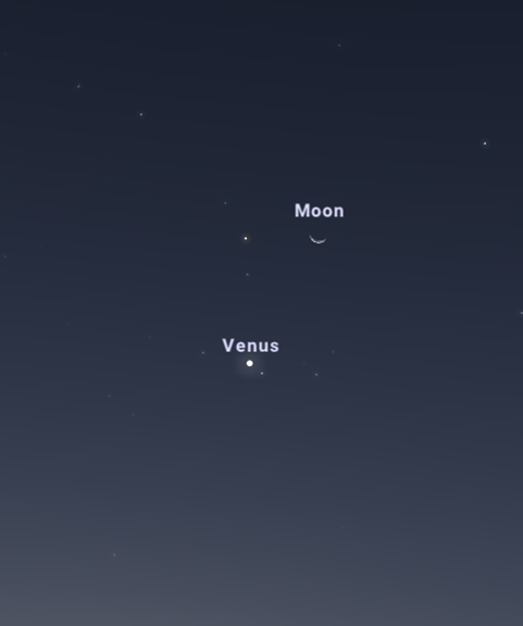 Venus, the Moon and Antares in the night sky from WA will form almost a right angle triangle on the night of 10 October.